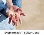family. hands of mother father... | Shutterstock . vector #520240159