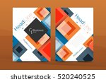 set of front and back a4 size... | Shutterstock .eps vector #520240525