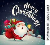 merry christmas  santa claus in ... | Shutterstock .eps vector #520241065
