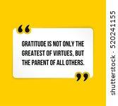 vector quote. gratitude is not... | Shutterstock .eps vector #520241155