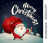 merry christmas  santa claus in ... | Shutterstock .eps vector #520241197