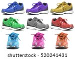 group of colorful running and... | Shutterstock . vector #520241431
