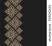 golden frame in oriental style. ...   Shutterstock .eps vector #520242631