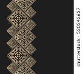 golden frame in oriental style. ... | Shutterstock .eps vector #520242637