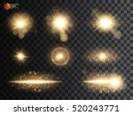 set. shining star  the sun... | Shutterstock .eps vector #520243771