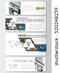 social media and email headers... | Shutterstock .eps vector #520248259