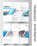 tri fold brochure business... | Shutterstock .eps vector #520248361