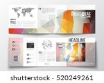 tri fold brochures  square... | Shutterstock .eps vector #520249261