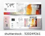 tri fold brochures  square... | Shutterstock .eps vector #520249261