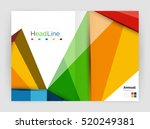3d low poly shapes design for... | Shutterstock . vector #520249381