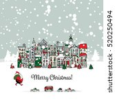 Merry Christmas Postcard With...