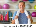 senior man in health club  | Shutterstock . vector #520251145