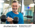 senior man in health club  | Shutterstock . vector #520251157
