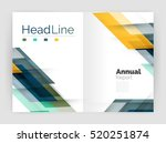 set of business straight lines... | Shutterstock . vector #520251874