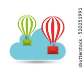 email balloon cloud mail vector ... | Shutterstock .eps vector #520251991