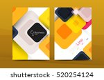 colorful square business... | Shutterstock . vector #520254124