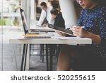 businesswoman working with... | Shutterstock . vector #520255615