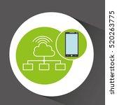 smartphone app development... | Shutterstock .eps vector #520263775