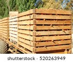 Wooden Crates With Freshly...