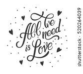 calligraphic lettering all we...   Shutterstock .eps vector #520264039