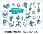 christmas toys   bumps. sketch... | Shutterstock .eps vector #520264327