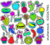 colorful fun set of fruits and... | Shutterstock .eps vector #520267981