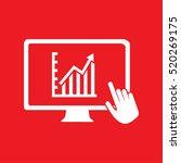 monitor economics icon vector... | Shutterstock .eps vector #520269175