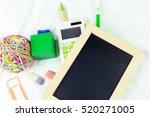 small wooden framed blank... | Shutterstock . vector #520271005