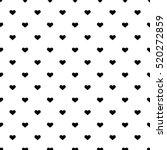 heart seamless background. | Shutterstock .eps vector #520272859