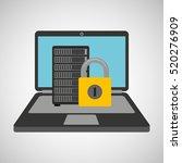 data center protection cyber... | Shutterstock .eps vector #520276909