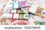 cash money. euro bills. euro... | Shutterstock . vector #520278055