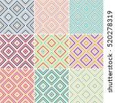 set of retro style  striped... | Shutterstock .eps vector #520278319