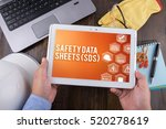 safety data sheets  sds  on... | Shutterstock . vector #520278619