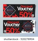black friday voucher card... | Shutterstock .eps vector #520278904