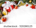 christmas gift with decoration... | Shutterstock . vector #520280125
