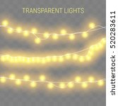 glowing lights for holidays.... | Shutterstock .eps vector #520283611