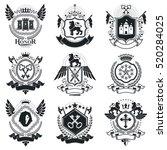heraldic coat of arms... | Shutterstock .eps vector #520284025