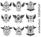 heraldic designs  vector... | Shutterstock .eps vector #520284169