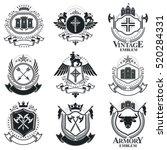 heraldic coat of arms... | Shutterstock .eps vector #520284331