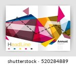 abstract background annual... | Shutterstock . vector #520284889