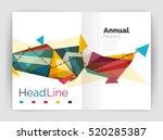 business triangle design modern ... | Shutterstock . vector #520285387