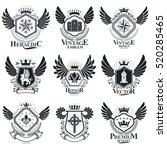 vector emblems  vintage... | Shutterstock .eps vector #520285465