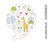 vector concept of conservation... | Shutterstock .eps vector #520286851