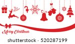 set of red christmas vector... | Shutterstock .eps vector #520287199
