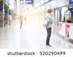 blurred people on the subway... | Shutterstock . vector #520290499