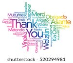 thank you word cloud background ... | Shutterstock .eps vector #520294981
