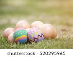 Easter With Egg On Grass