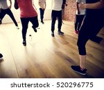 diversity people exercise class ... | Shutterstock . vector #520296775