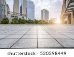 empty floor with modern... | Shutterstock . vector #520298449