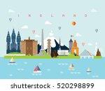 ireland famous landmarks...   Shutterstock .eps vector #520298899